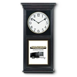 "Black Stain Regulator Wall Clock (12""x24"")"