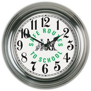 "Metal Wall Clock (13 3/8"")"